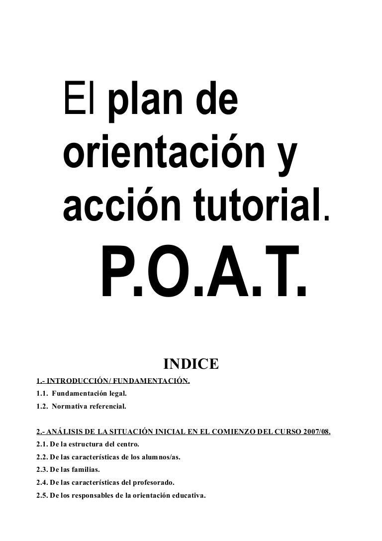 Ii.3. plan de orientación y acción tutorial