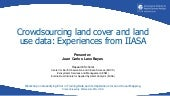 Crowdsourcing Land Cover and Land Use Data: Experiences from IIASA