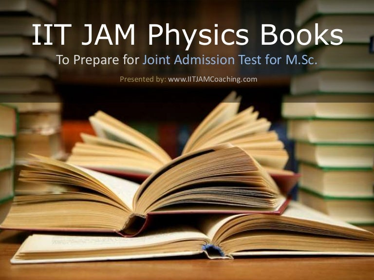 iit jam books for physics pdf