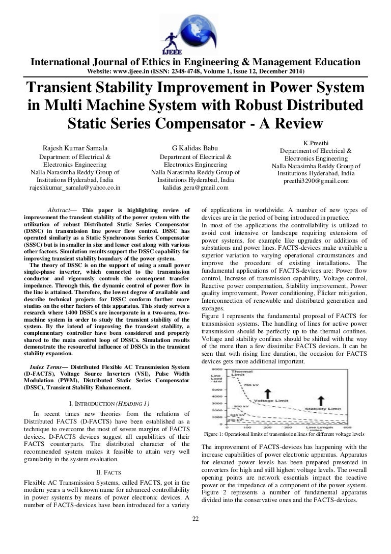 transient stability improvement in power system in multi machine syst…