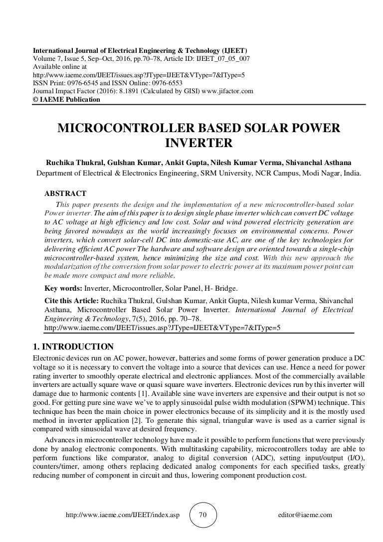 Microcontroller Based Solar Power Inverter Pure Sine Wave Using Ic 555 Electronic Circuit Projects Ijeet0705007 161102082527 Thumbnail 4cb1478075841