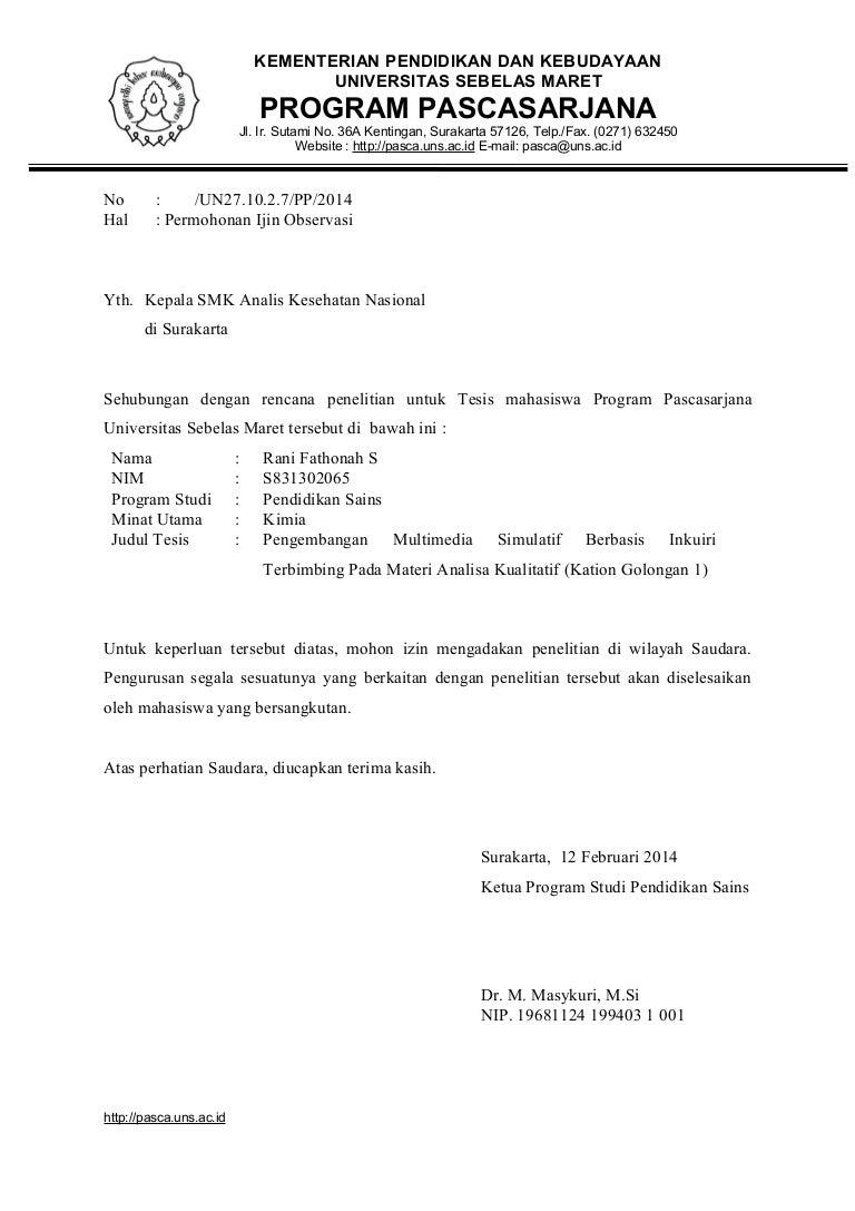 17++ Contoh surat balasan observasi dari sekolah terbaru yang baik