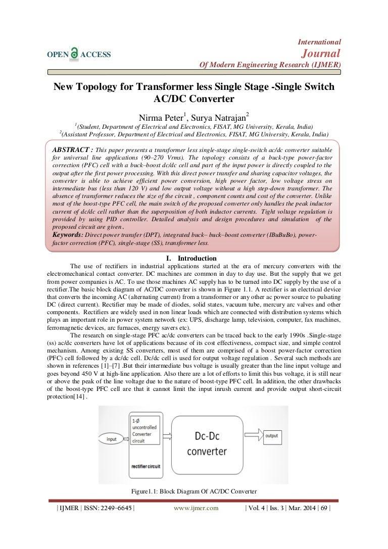 Isolated Acdc Converter Block Diagram