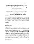 Quality of Service Routing in Mobile Ad hoc Networks Using Node Mobility and Energy Depletion Parameters