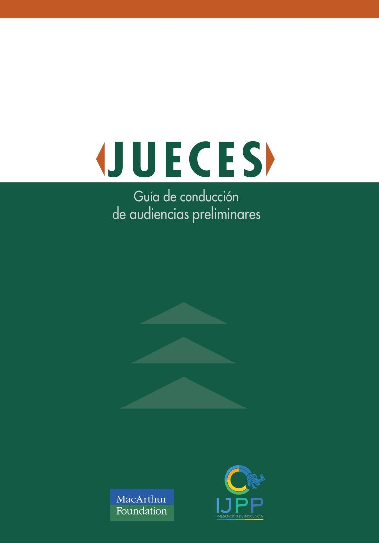 Jueces. Guía Audiencias Preliminares CNPP