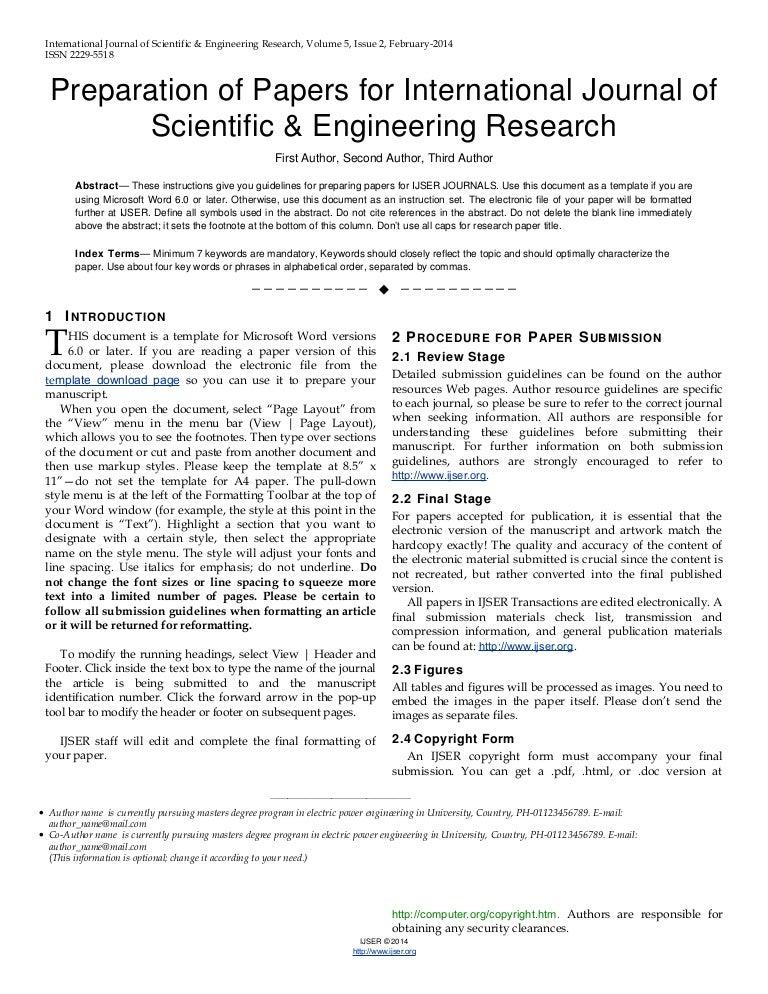 ijser research paper format
