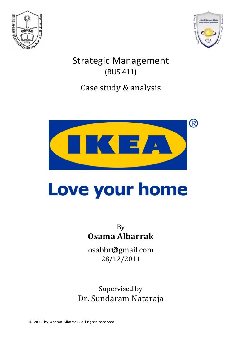 Ikea Strategic Case Study Amp Analysis