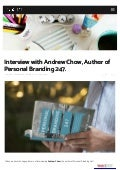 Ikiguide - Interview with Andrew Chow - Author of Personal Branding 247
