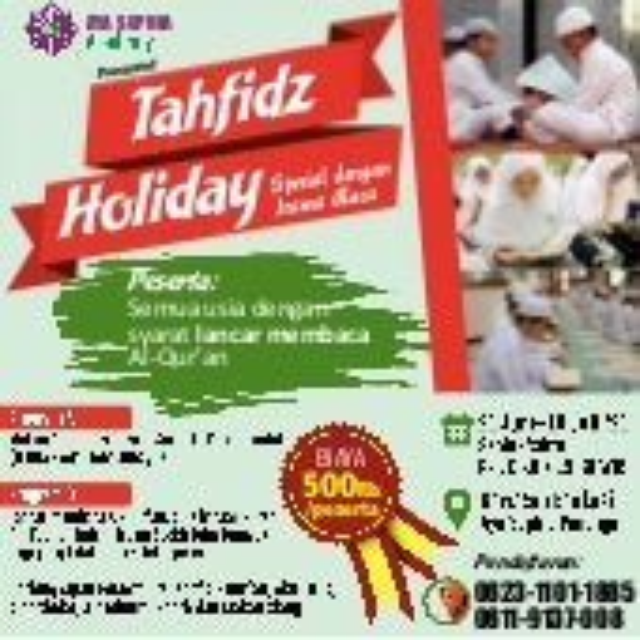 Iklan tahfidz holiday