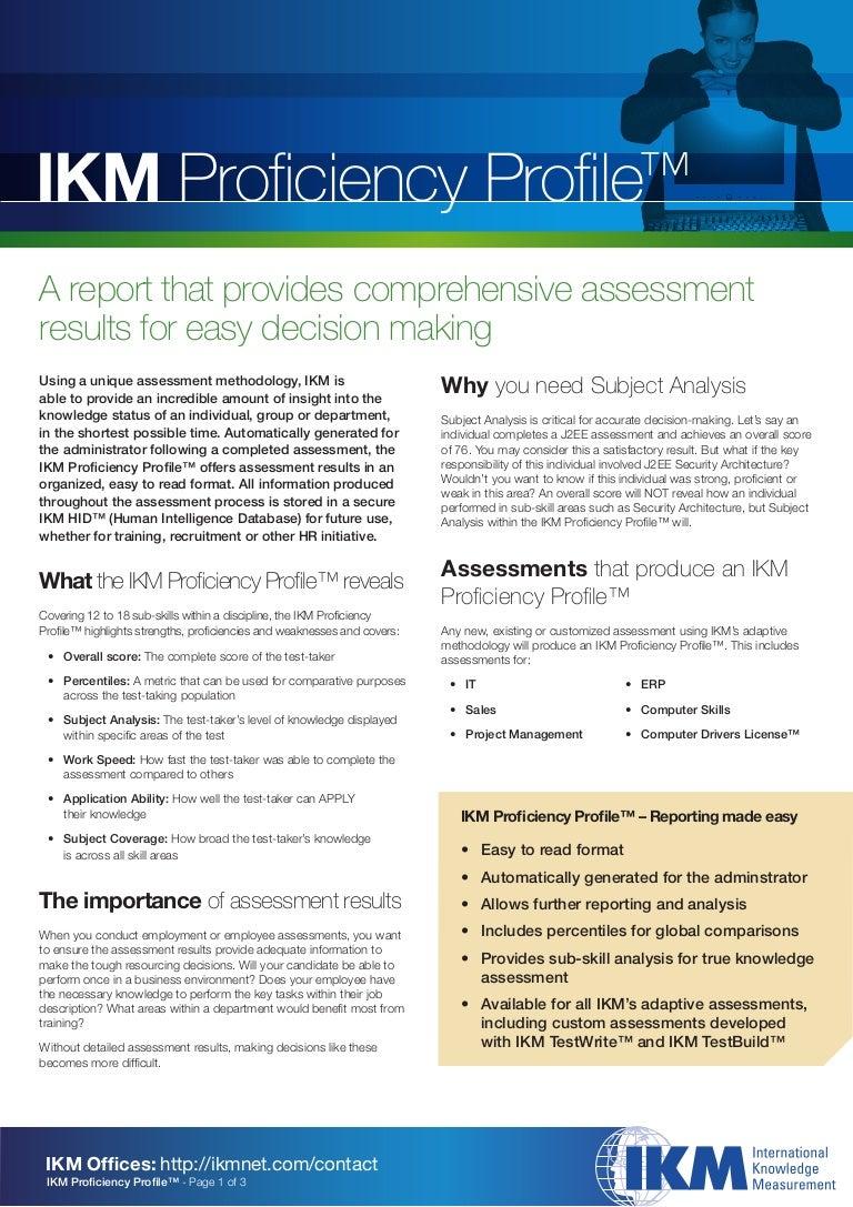 Txt Descargar Ikm Proficiency Profile Aug08[1]