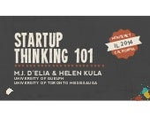 Startup Thinking 101 for Libraries: Workshop