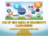 Use of New Media in Grassroots Campaigning (2012 Version)