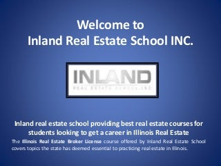 Illinois Real Estate Broker License, Online Real Estate Courses Illinois