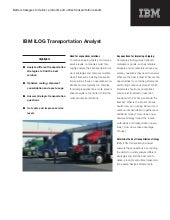 Ilog transportation analyst
