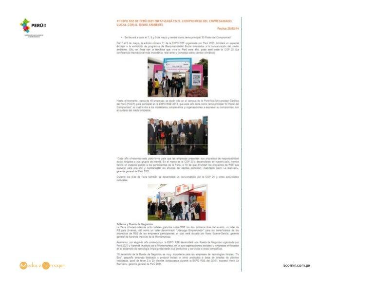 11 Expo RSE De Perú 2021 Enfatizará En El Compromiso Del