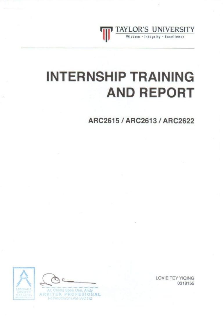 Internship Report And Logsheet