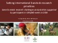 Setting international livestock research priorities: Some livestock research challenges and priorities suggested by participants in ILRI@40 events in 2014
