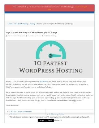 1# Fast WordPress Hosting