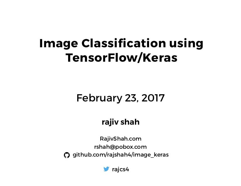 Image Classification Done Simply using Keras and TensorFlow