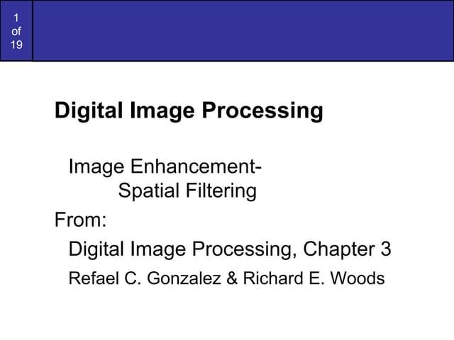 Image processing spatialfiltering