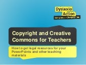 Copyright and Creative Commons for Teachers Making PowerPoints and Other Teaching Resources