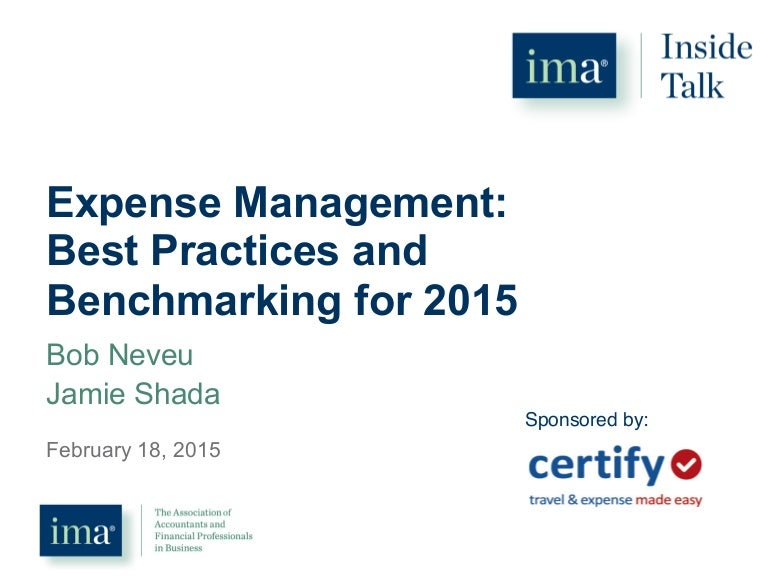 Expense Management: Best Practices and Benchmarking for 2015
