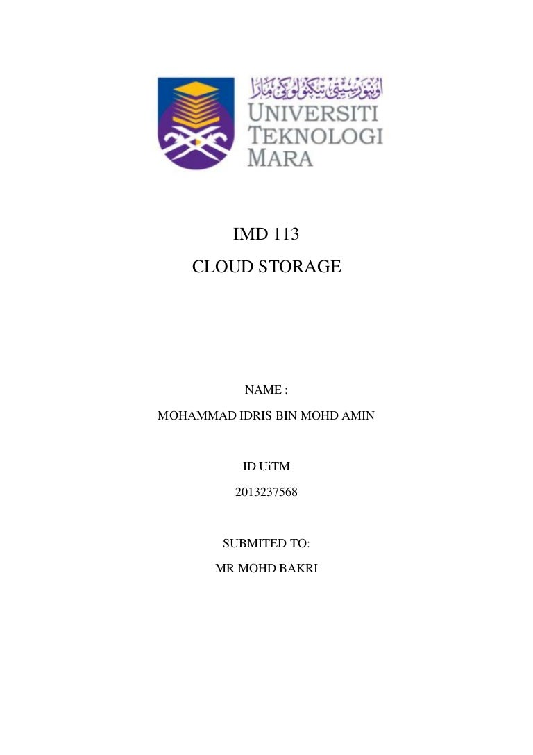 assingment imd cloud storage