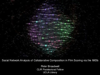 Social Network Analysis of Collaborative Composition in Film Scoring via the IMDb