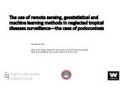 IMED 2018: The use of remote sensing, geostatistical and machine learning methods in neglected tropical diseases surveillance — the case of podoconiosis and lymphatic filariasis.