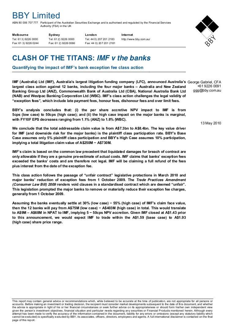 IMF - clash of the titans