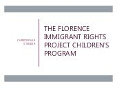 The Florence Immigrant Rights Project Children's Program