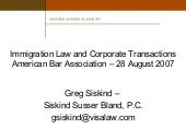 Immigration Consequences of Mergers and Acquisitions