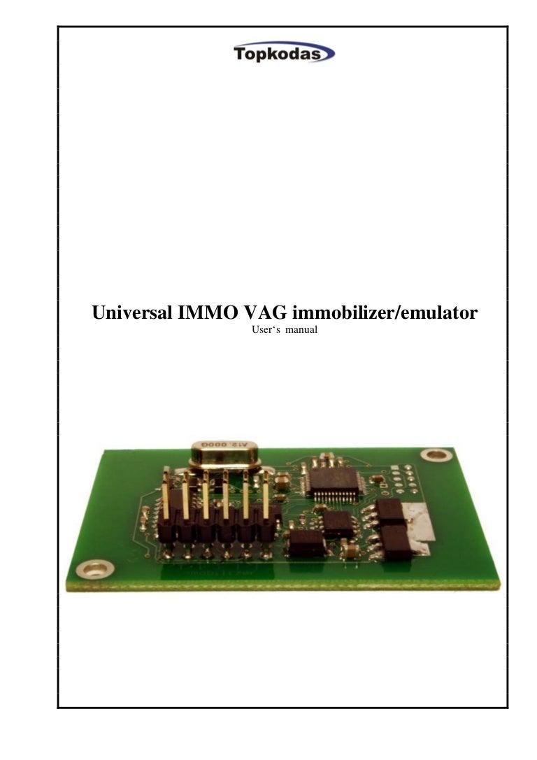 Universal Immo Vag Immobilizer Emulator Users Manual Engine Wiring Diagram