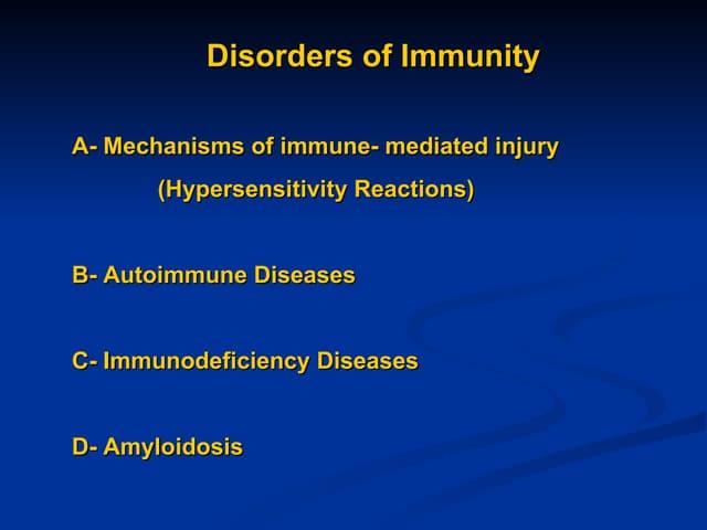 Immunopathology lecture 2+3 ,final