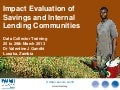 Impact evaluation of savings and internal lending communities