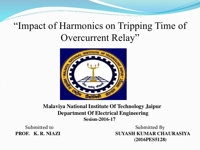 impact of harmonics on tripping time of the relay rh slideshare net