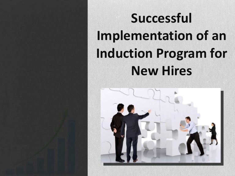 successful implementation of induction program for new hires, Presentation templates