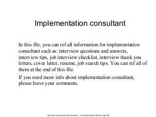 Implementation Consultant | LinkedIn