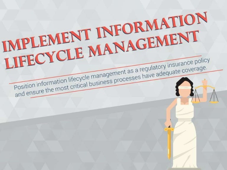 Technology Lifecycle Management: Implement Information Lifecycle Management