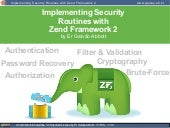 Implementing security routines with zf2