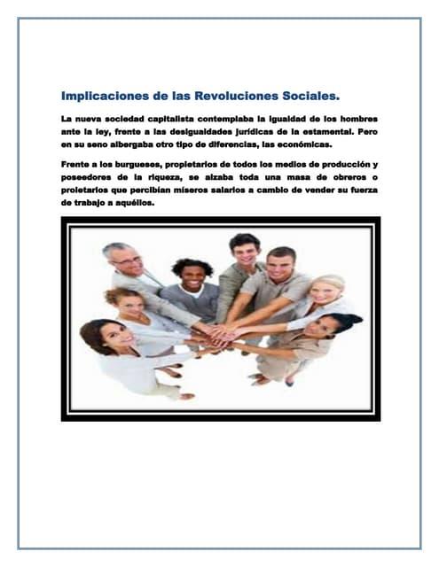 Implicaciones de las revoluciones sociales 1