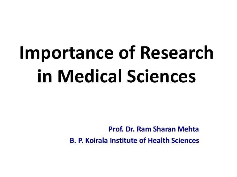 Imp of medical research rsm