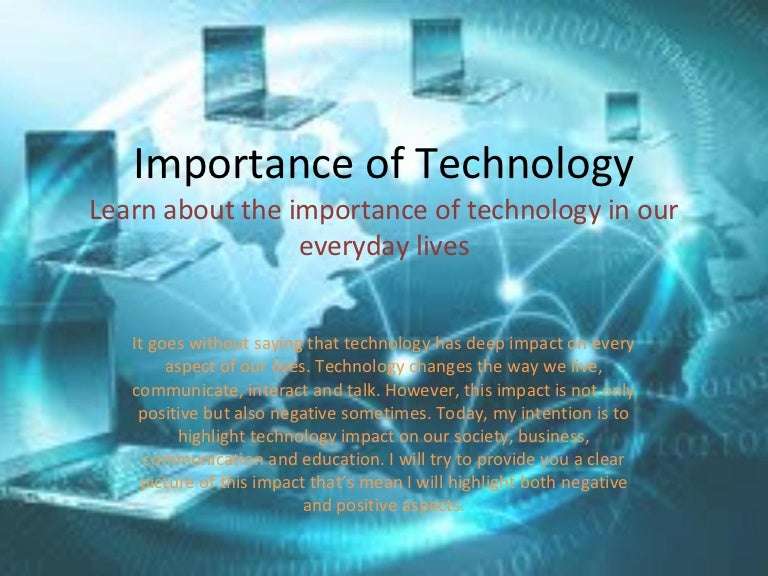 the impact of technology on todays The impact of technology on our social, mental, physical and environmental health can be devastating if we don't keep ourselves in check there's no denying the benefits we have gained from technological advancements, but as with all things in life moderation is key.