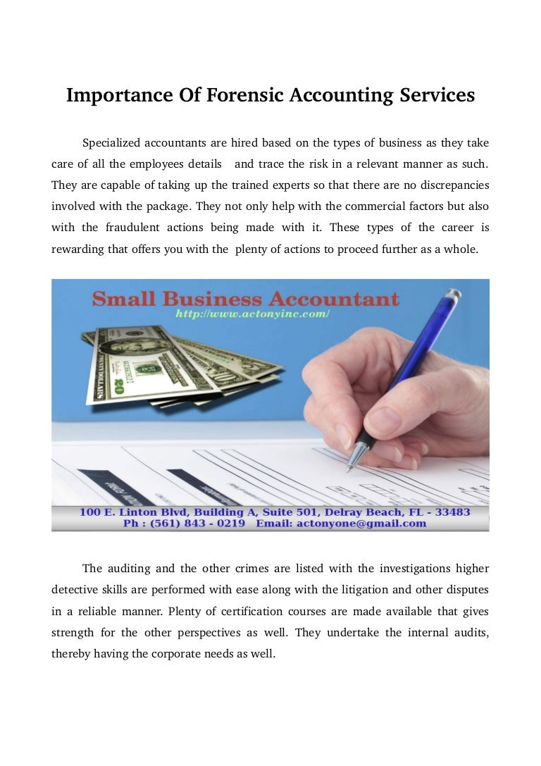 Importance of forensic accounting services 1betcityfo Image collections