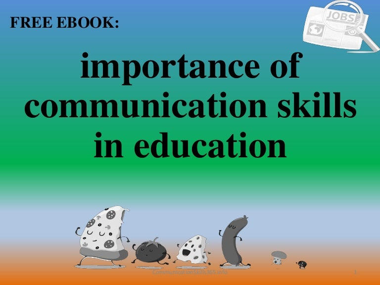 Importance Of Communication Skills In Education Pdf Free Download