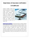 Importance of insurance_verification_in_healthcare