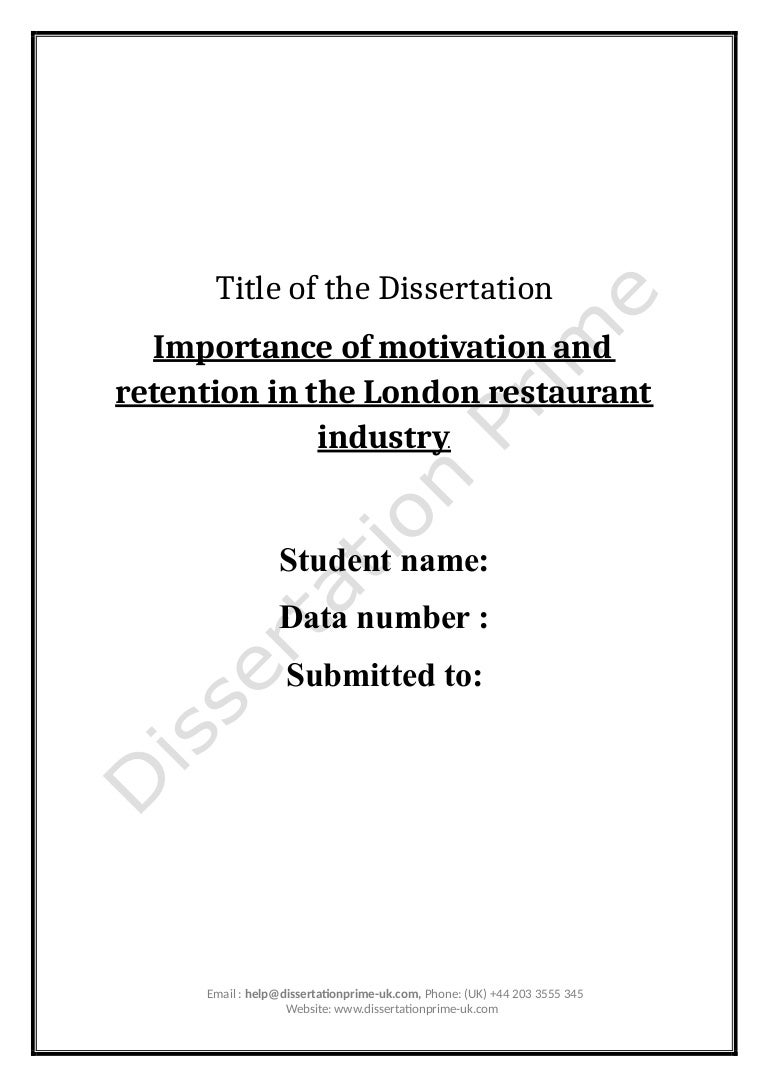 importance of motivation and retention in restaurant industry sample