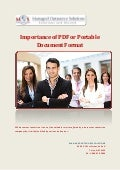 Importance of PDF or Portable Document Format