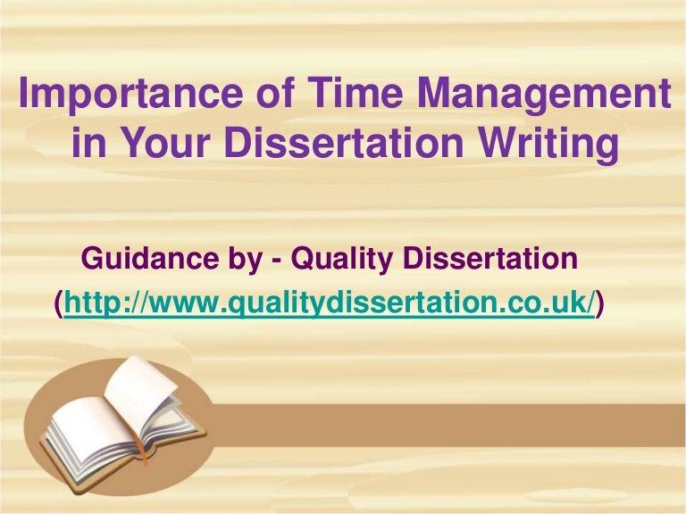 Time management dissertation writing