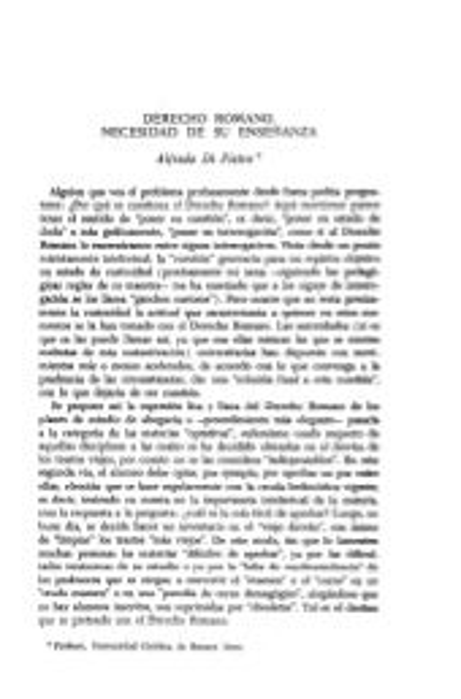 Importancia del derecho romano